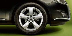 Диски литые R17 легкосплавные серебристые дизайн 5 лучей для Opel Astra J c бензиновыми двигателями 1,4 л, 1,4T л и 1,6 л, дизельными двигателями 1,3 л