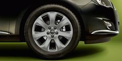 Диски литые R17 легкосплавные с покрытием Titan gloss дизайн 7 лучей для Opel Astra J c бензиновыми двигателями 1,4 л, 1,4T л и 1,6 л, дизельными двигателями 1,3 л