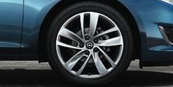 Диски литые R18 легкосплавные серебристые дизайн 5 двойных спиц для Opel Astra J c бензиновыми двигателями 1,6T л, дизельными двигателями 1,7 л и 2,0 л
