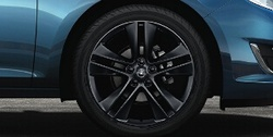 Диски литые R18 легкосплавные черные дизайн 5 двойных спиц для Opel Astra J c бензиновыми двигателями 1,6T л, дизельными двигателями 1,7 л и 2,0 л и Opel Zafira Tourer