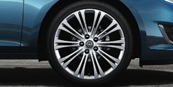 Диски литые R19 легкосплавные серебристые дизайн 10 двойных лучей для Opel Astra J c бензиновыми двигателями 1,4 л, 1,4T л и 1,6 л, дизельными двигателями 1,3 л