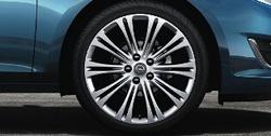 Диски литые R19 легкосплавные серебристые дизайн 10 двойных лучей для Opel Astra J c бензиновыми двигателями 1,6T л, дизельными двигателями 1,7 л и 2,0 л и Opel Zafira Tourer