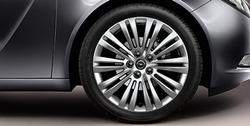 Диски литые R18 легкосплавные серебристые дизайн 10 двойных лучей для Opel Insignia