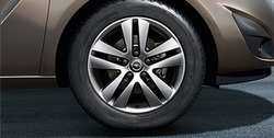 Диски литые R16 легкосплавные дизайн 5 двойных лучей с покрытием Sterling Silver для Opel Astra H, Opel Meriva B, Opel Zafira B