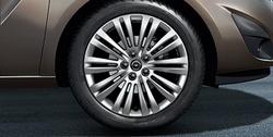 Диски литые R17 легкосплавные дизайн 10 двойных лучей для Opel Meriva B, Opel Zafira B