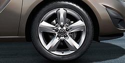 Диски литые R17 легкосплавные дизайн 5 лучей для Opel Meriva B