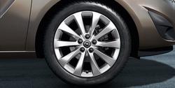 Диски литые R17 легкосплавные дизайн 5 V-образных лучей для Opel Meriva B