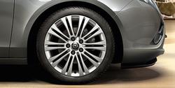 Диски литые R18 легкосплавные серебристые дизайн 10 двойных спиц для Opel Zafira Tourer