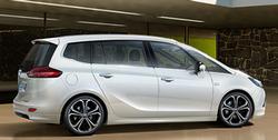 Обвес на Opel Zafira Tourer от компании Opel в стиле OPC Line I с вырезом в бампере под сдвоенный глушитель