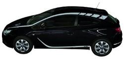 Акцентные полосы экстерьера Opel Astra J GTC серого цвета