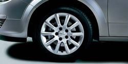 Диски литые R16 легкосплавные дизайн 5 V-образных лучей ``Elegance`` с покрытием Sterling Silver для Opel Astra H, Opel Zafira B