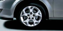 Диски литые R16 легкосплавные дизайн 5 Y-образных лучей ``Dynamic 1`` с покрытием Sterling Silver для Opel Astra H, Opel Zafira B