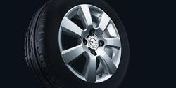 Диски литые R16 легкосплавные дизайн 7 лучей с покрытием Sterling Silver для Opel Astra H