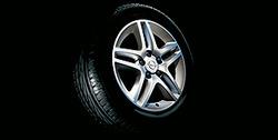 Диски литые R17 легкосплавные дизайн 5 двойных лучей с покрытием Silver для Opel Astra H, Opel Vectra C