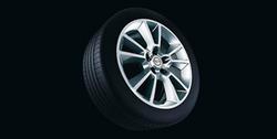 Диски литые R17 легкосплавные дизайн 5 V-образных лучей с покрытием Silver для Opel Astra H