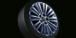 Диски литые R17 легкосплавные дизайн 10 сдвоенных лучей с покрытием Sterling Silver для Opel Astra H