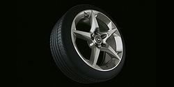 Диски литые R18 легкосплавные дизайн 5 лучей с покрытием Titan для Opel Astra H