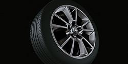 Диски литые R17 легкосплавные дизайн 5 двойных лучей с покрытием Titan для Opel Zafira B