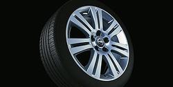 Диски литые R17 легкосплавные дизайн 7 двойных лучей с покрытием Silver для Opel Zafira B