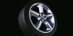 Диски литые R17 легкосплавные дизайн 5 лучей с покрытием Silver для Opel Zafira B