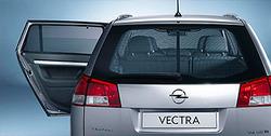Защитные шторки на заднее окно Opel Vectra C