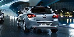 Накладка на бампер задний Opel Astra J Хэтчбек (дорестайлинг) пакет OPC Line I без выреза в бампере под глушитель