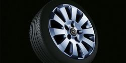 Диски литые R16 легкосплавные дизайн 10 лучей с покрытием Sterling Silver для Opel Vectra C