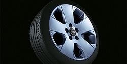 Диски литые R17 легкосплавные дизайн 5 лучей с покрытием Sterling Silver для Opel Vectra C