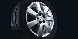 Диски литые R17 легкосплавные дизайн 7 лучей с покрытием Sterling Silver для Opel Vectra C