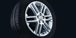 Диски литые R17 легкосплавные дизайн 6 двойных лучей с покрытием Sterling Silver для Opel Vectra C