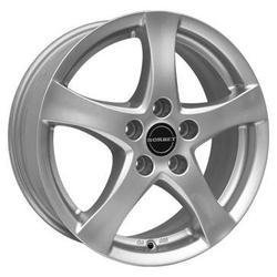 Диски литые R17 легкосплавные дизайн F brillant silver для Opel Mokka