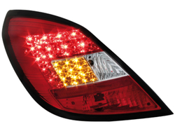 Фонари задние Opel Corsa D 5-дверная красные прозрачные LED