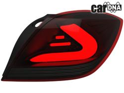 Фонари задние Opel Astra H GTC черного цвета LED (светодиодные)