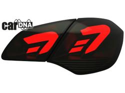 Фонари задние Opel Astra J Хэтчбек черного дымчатого цвета LED (светодиодные)