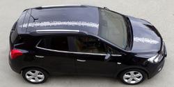 Акцентные полосы экстерьера Opel Mokka черного цвета для автомобилей с панорамной крышей