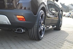 Глушитель Opel Mokka на две стороны с двумя насадками ко всем двигателям