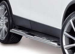 Пороги Opel Mokka овальные из нержавеющей стали