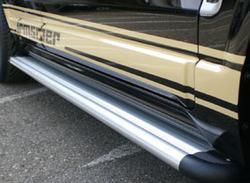 Боковые подножки Opel Antara (дорестайлинг, рестайлинг) плоские