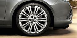 Диски литые R19 легкосплавные с покрытием Manoogian дизайн 10 двойных лучей для Opel Astra J c бензиновыми двигателями 1,6T л, дизельными двигателями 1,7 л и 2,0 л и Opel Zafira Tourer