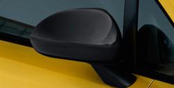 Накладки на зеркала Opel Corsa D черные