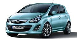 Обвес на Opel Corsa D 3-дверная (рестайлинг) от компании Opel в стиле OPC Line I без выреза в бампере под глушитель