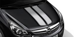 Акцентные полосы экстерьера Opel Corsa D 3-дверная Star Silver
