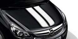 Акцентные полосы экстерьера Opel Corsa D 3-дверная Casablanca White