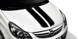 Акцентные полосы экстерьера Opel Corsa D 3-дверная Sapphire Black