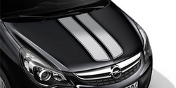 Акцентные полосы экстерьера Opel Corsa D 5-дверная Star Silver