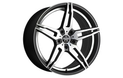 Диски литые R18 легкосплавные Barracuda Starzz Mattblack-Polished/Undercut-Polished для Opel Insignia