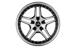 Диски литые R18 легкосплавные Corniche Vegas Higloss-Black-Polished/Inox-Lip для Opel Insignia