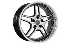 Диски литые R19 легкосплавные Corniche Vegas Higloss-Black-Polished/Inox-Lip для Opel Insignia