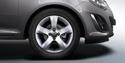 Диски литые R16 легкосплавные серебристые дизайн 5 лучей для Opel Corsa D 4х100