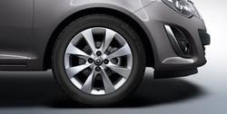 Диски литые R16 легкосплавные серебристые дизайн 4 двойных луча для Opel Corsa D 4х100